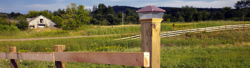 Beautiful fencing in rural Vermont